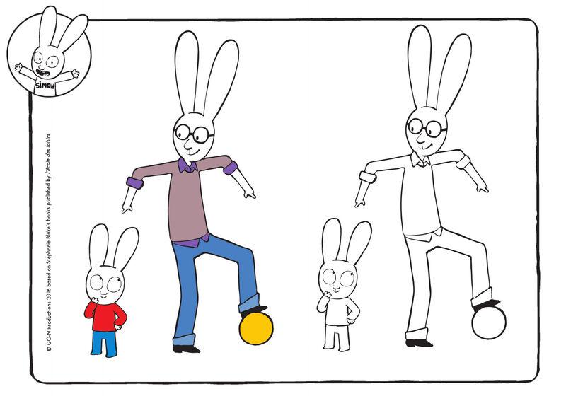 Simon - ballen met papa