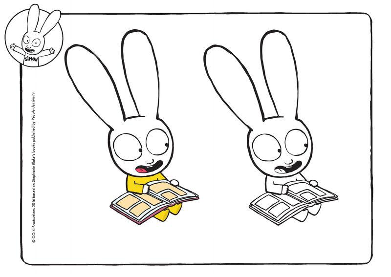 Simon - Casper leest een boek