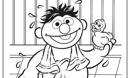 Ernie uit bad
