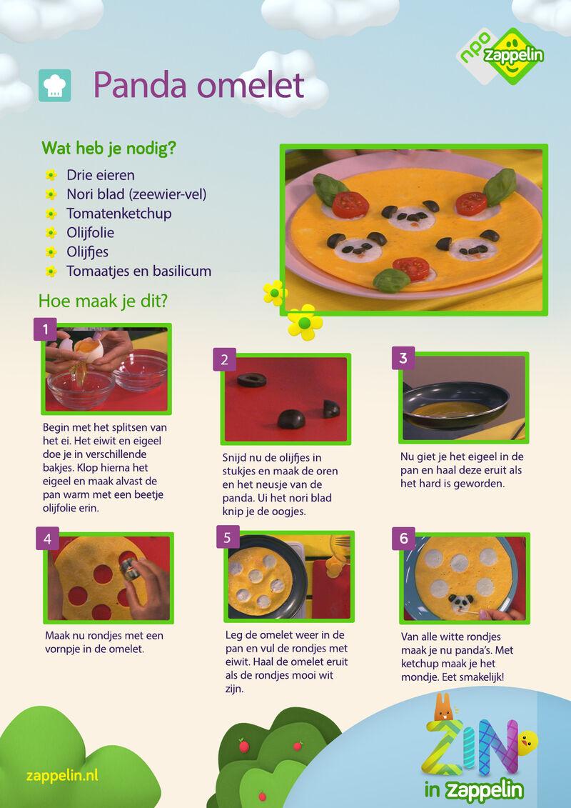 Zin in Zappelin - Panda omelet