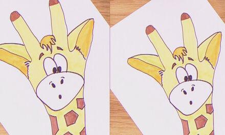 Zin in Zappelin - Teken een giraf