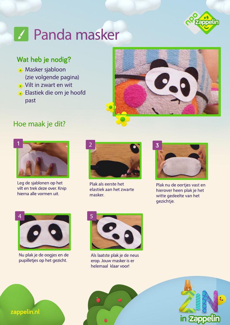 Zin in Zappelin - Panda masker