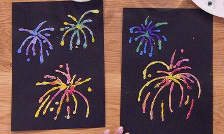 Zin in Zappelin - Vuurwerk tekening