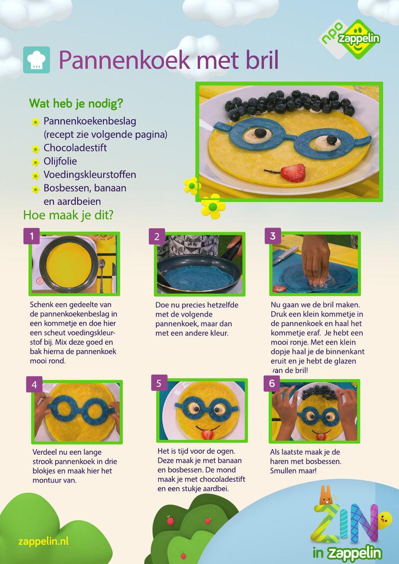 Zin in Zappelin - Pannenkoek met bril