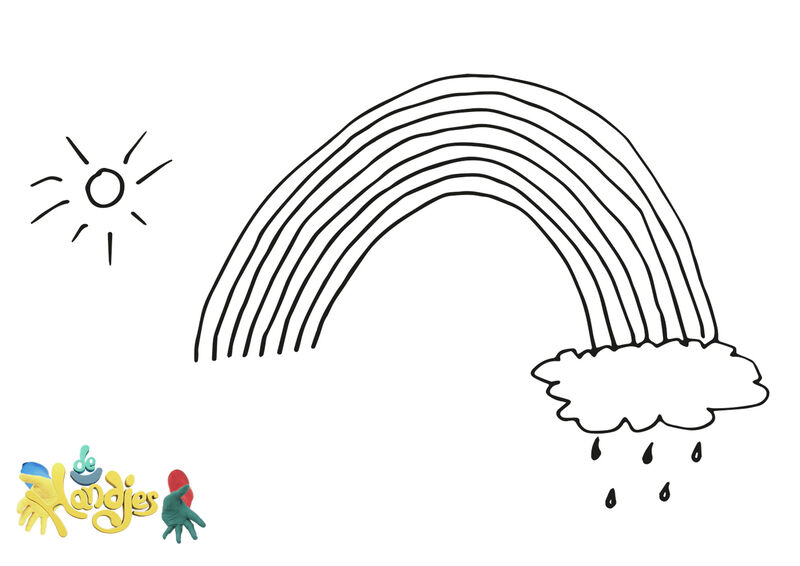 De Handjes - Tekening regenboog