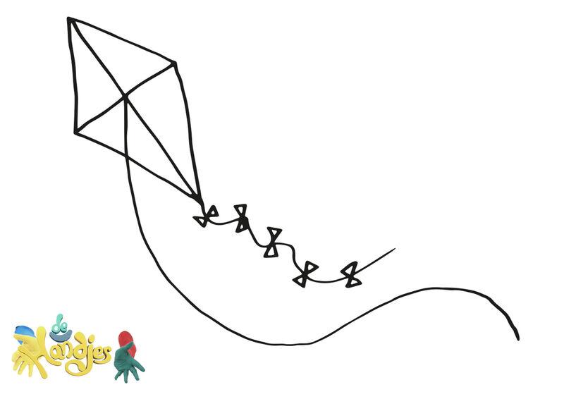 De Handjes - Tekening vlieger
