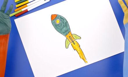 De Handjes - Teken een raket
