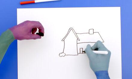 De Handjes - Teken een huis