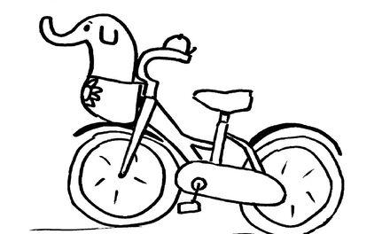 De Handjes  - kleurplaat fiets