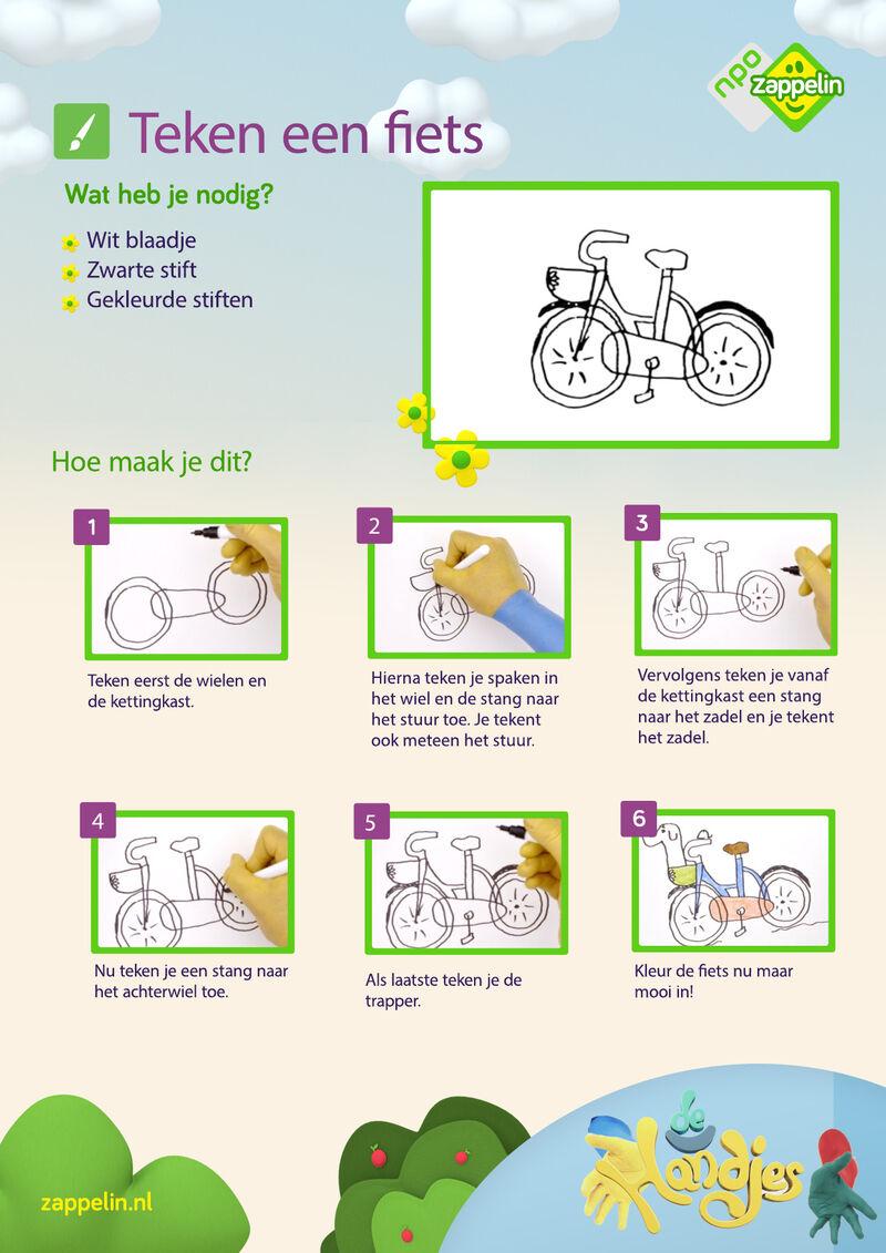 De Handjes - Teken een fiets