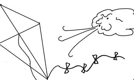 De Handjes  - kleurplaat vlieger