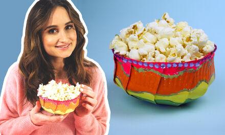 Regenboog popcornbakje