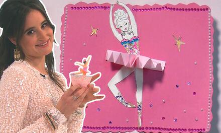 Ballerina Pop-up Kaart