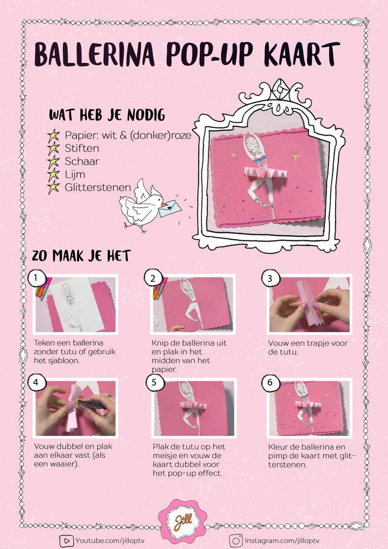 Jill - Ballerina Pop-up Kaart