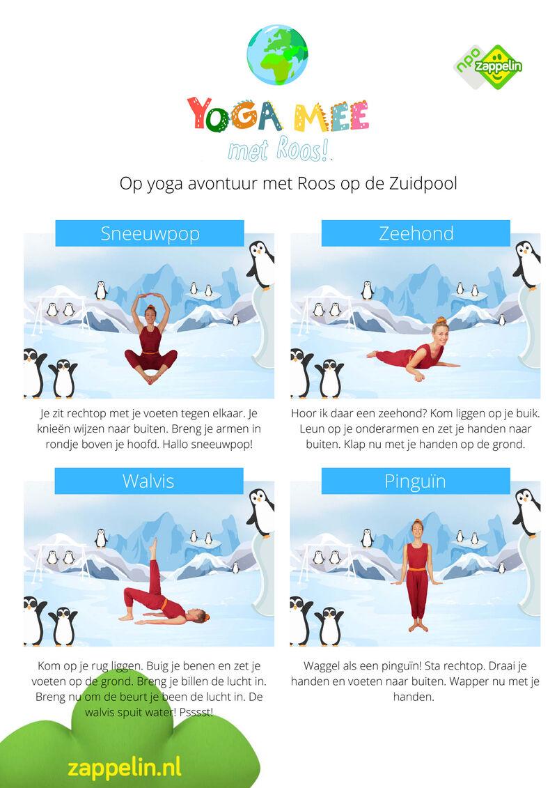 Yoga mee met Roos op de Zuidpool