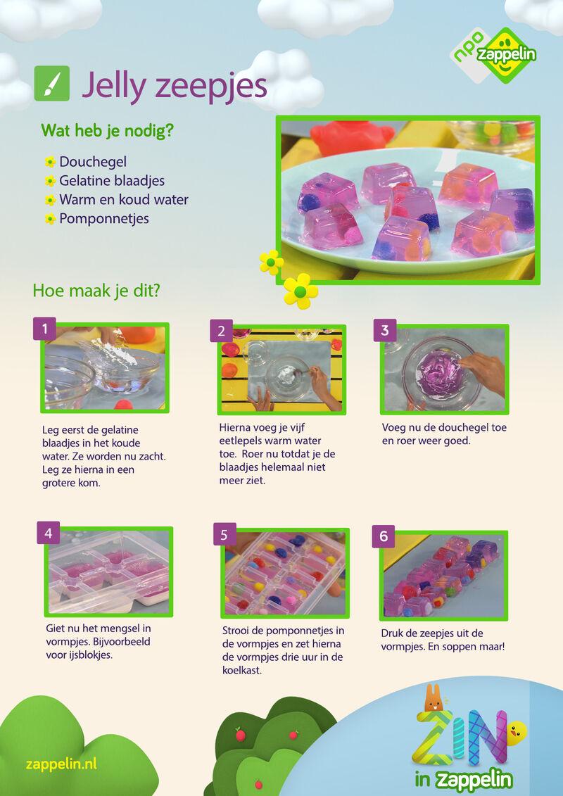 Zin in Zappelin - Jelly zeepjes