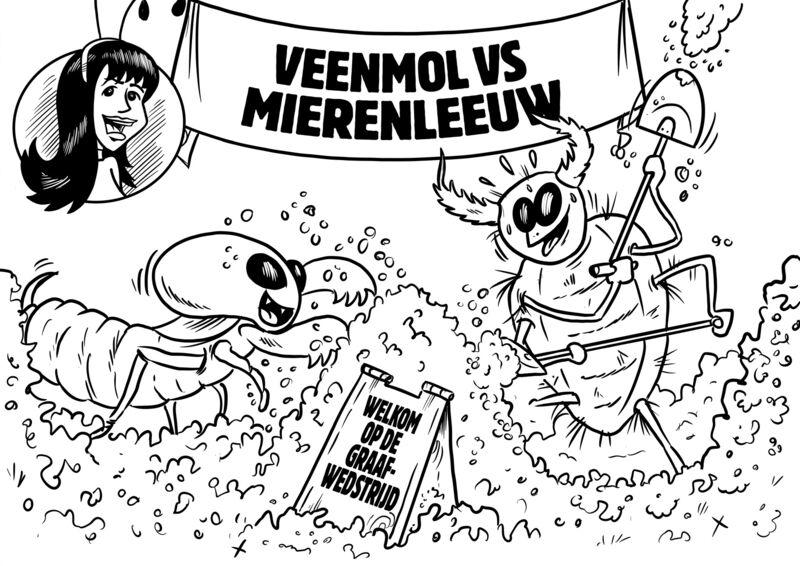 Missie Voelspriet - Veenmol vs. Mierenleeuw