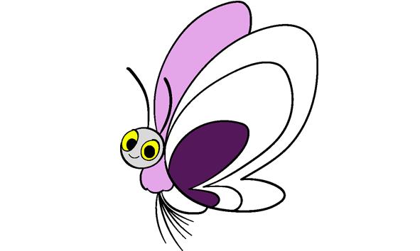 Vlinder uit babydieren