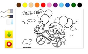 Pettenpret (online kleurplaat)